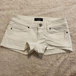 Guess White Jean Shorts Size 288
